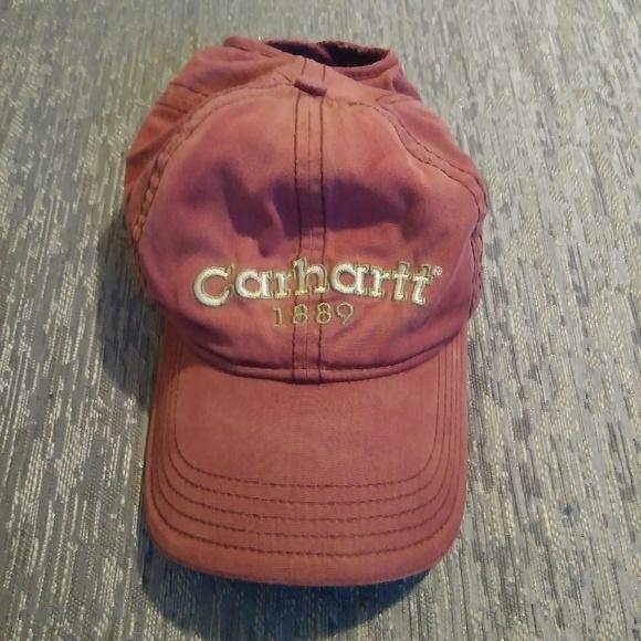 44b53febd71d1 Carhartt Other - Carhartt Salmon Red Adjustable Hat!